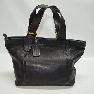 Coach Soho Vintage Zip Top Black Leather Tote 4133